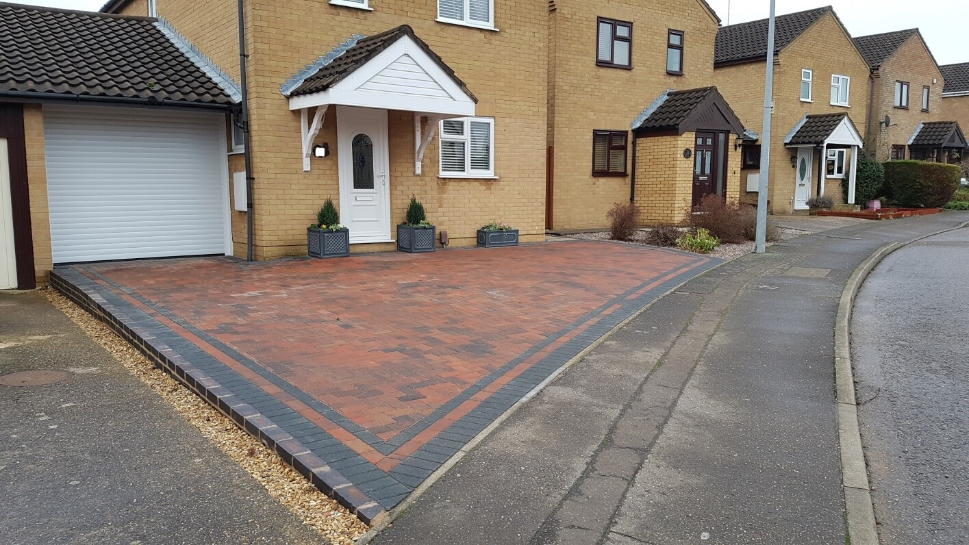 Finished Blocked Driveway