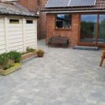 garden block paving patio
